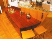 Paduak kitchen bench 27